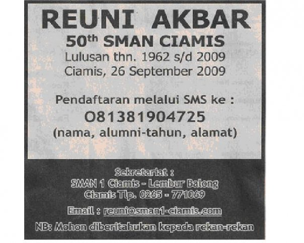 iklan reuni di media indonesia 10 juni 2009